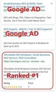 SEO Rank first on Google